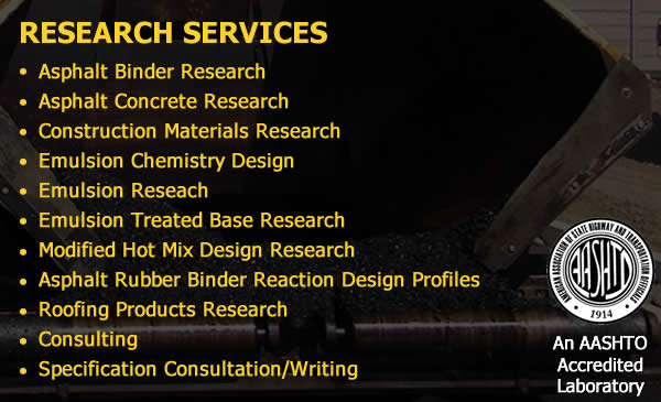 Asphalt Research Services California